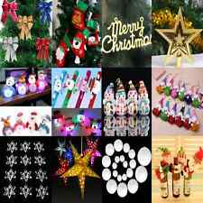 Lots Snowflake Christmas Ornaments Window Xmas Tree Hanging Decoration Wholesale