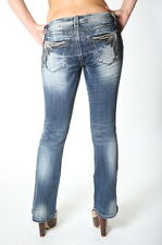 MISS ME WOMEN'S EMBELLISHED POCKETS PREMIUM BOOT CUT JEANS