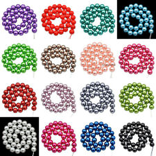 """12mm Top Quality Czech Glass Pearl Round Beads 16"""" Pick Color"""