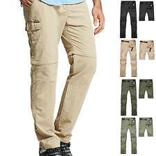 Men Detachable Outdoor Anti-UV Breathable Quick Dry Pants Hiking Stretch Trouser