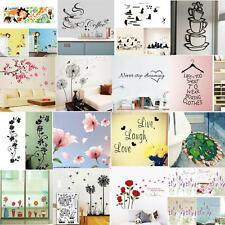 Wall Stickers Removable Decal DIY Art Vinyl Quote Mural Home Kids Floral Decor