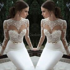 Women Sheer Straps Prom Dresses Chiffon Long Sleeve Backless Party Evening Gowns