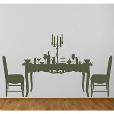 Dining Table & Chairs Food Dinner Dining Room Wall Stickers Home Decor Art Decal