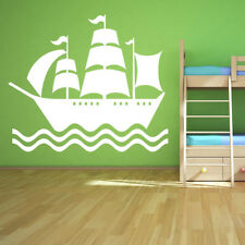 Pirate Ship And Sea Boats Wall Stickers Bathroom Home Decor Art Decals