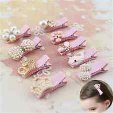 New Baby Girl Pearl Crown Flower Hair Clip Hair Accessories Princess Hairpins FT