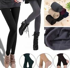 Womens Warm Skinny Slim Leggings Stretchy Pencil Pants Thick Footless Trousers F