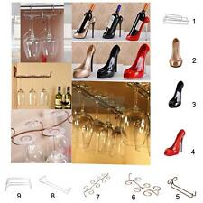 Wine Glass Rack Stemware Holder & High Heel Wine Bottle Champagne Holder Shelf