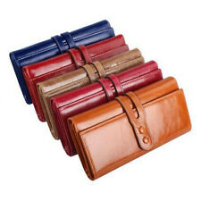 6 Colors Soft Genuine Leather wallet Card Holders Purse Lady pouch Handbag