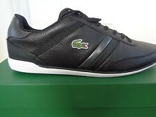 Lacoste Sport Giron NAL SPM mens black leather shoes sneakers trainers NEW+BOX