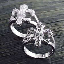 CLOSEOUT! Genuine Sterling Silver Fleur De Lis .57 Carat CZ Ring Only $9.99
