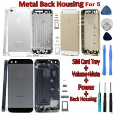 BACK BATTERY REPLACEMENT HOUSING COVER HARD METAL CASE FOR IPHONE 5 WITH TOOLS
