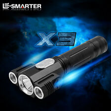 E-SMARTER 6000 Lumen CREE T6+2 Q5 LED 18650 Super Torch Lamp Rotate Flashlight