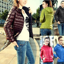 Fashion Women Winter Warm Short Coat Slim Hooded Overcoat Parka Down Jacket New