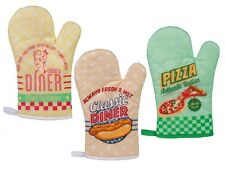 OVEN GLOVE MITT - VINTAGE/ RETRO DINER DESIGN - KITCHEN USE
