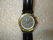*Fossil MENS STAR MASTER TIME/DATE LITED DIAL LU-2503 -WORKING NEW BATTERY******