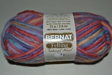 BERNAT FELTING YARN - 100% Wool - 2 COLORS - Great for Knit or Crochet - Bulky 5