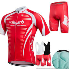 New unisex Bike Clothing Cycling Short Sleeve Jersey Bib Shorts Suit Sports Wear