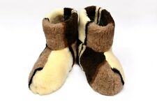 New Hot Men 100% Sheep Wool Leather Romb Brown House Home Indoor Slippers Lot
