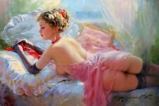 Modern Abstract Hand-painted Oil Painting Wall Konstantin Razumov Girl 36''