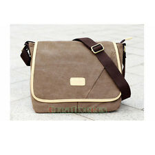 Men Canvas Vintage School Travel Satchel Crossbody Messenger Shoulder Casual Bag