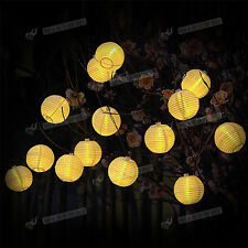 20 LED Ball Solar Power Fairy String Lights Lamp Outdoor Christmas Party Garden