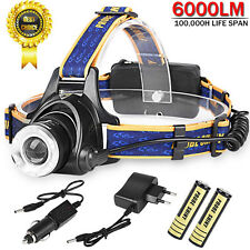 LED Headlight Torch 6000Lm Cree T6 Running Rechargeable Headlamp Head Light Lamp