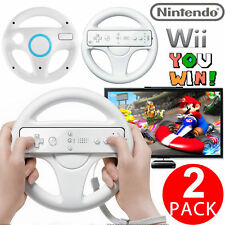 2PCS Mario Kart Racing Steering Wheel for Nintendo Wii Remote Game Controller
