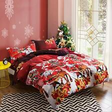 Christmas Gift New Duvet Cover Pillowcase Quilt Cover Bed Set Twin Queen King L
