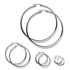 Two chic Hoop Earrings Stainless steel Various Sizes silver