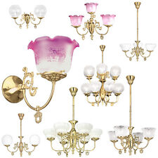 Recreated Victorian Gas Lights - Choice of Chandelier or Wall Sconce or  Pendant