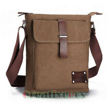 Vintage Men's Canvas Leather Satchel School Military Shoulder Bag Messenger Bag