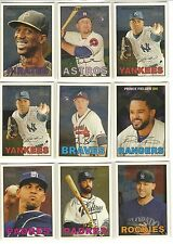 2016 TOPPS HERITAGE CHROME /999 INSERT BASEBALL CARDS YOU PICK THE ONES YOU WANT