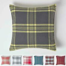 Tartan Pattern Filled Scatter Cushion 100% Cotton Fit for Sofa & Settee Cushions