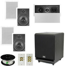 "5.1 Home Theater 8"" In Wall Speakers, Center, 8"" Powered Sub & More TS80WL51SET3"