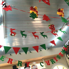 New Christmas Tree Hanging Flag Xmas Banner Ornament Gift Home Party Decoration