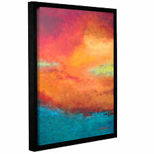 Lake Reflections III' Gallery Wrapped Floater-framed Canvas Art Print