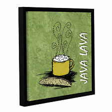 'Java Lava' Gallery Wrapped Floater-framed Canvas
