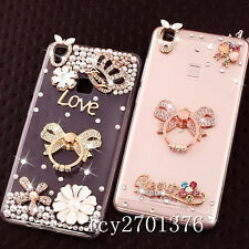 Bling Clear handmade Diamonds Crystal TPU Soft Back Case Cover Skin For Xiaomi 2