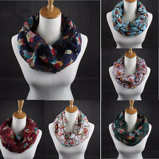Fashion Womens Ladies Scarves Owl Print Scarf Warm Wrap Shawl Collar Voile Scarf