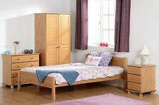SOL Bedroom Furniture in Antique Pine - Wardrobes, Beds, Dressing Table, Chests