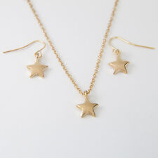 Star Gold Filled Chain Pendant Earring Set Warranty Free Shipping New