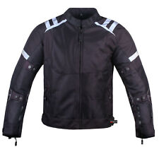Mens Storm Mesh Summer Armored Reflective Waterproof Black Motorcycle Jacket