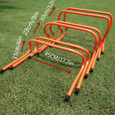 60Pcs  AGILITY HURDLES 6/9/12Football Rugby Speed Training Fitness Ladder