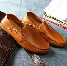 New Fashion Leather Slip On Loafers Casual Mens Moccasin-gommino Driving Shoes