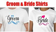 2 Groom and Bride  t shirt .  Couple Bride and Groom t Shirt