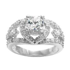 925 Sterling Silver Dazzling 1.55 Carat CZ Engagement Ring Size 6-9