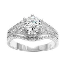 925 Sterling Silver Stunning 2.26 Carat CZ Engagement Ring Size 6-9