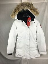 NEW Canada Goose VICTORIA PARKA WHITE WOMENS JACKET DOWN AUTHENTIC HOLOGRAM