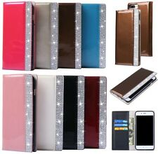 Diamonds PU leather flip slots stand wallet case cover For Apple iphone 6G/7G AZ