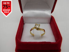 14K Yellow Gold Solitaire Engagement Ring Christmas 0.50 CT Natural Diamond J VS